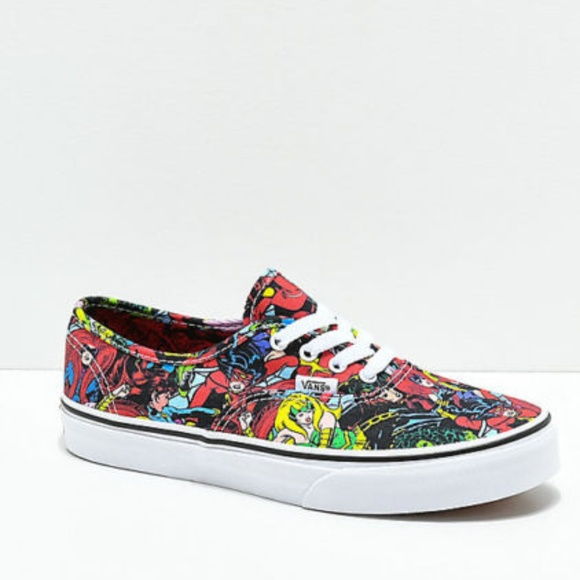 Vans x Marvel Authentic Marvel Multi Skate Shoes 78e24377f